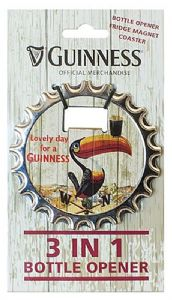 Guinness 3 in 1 Bottle Opener / fridge magnet / coaster   (sg)